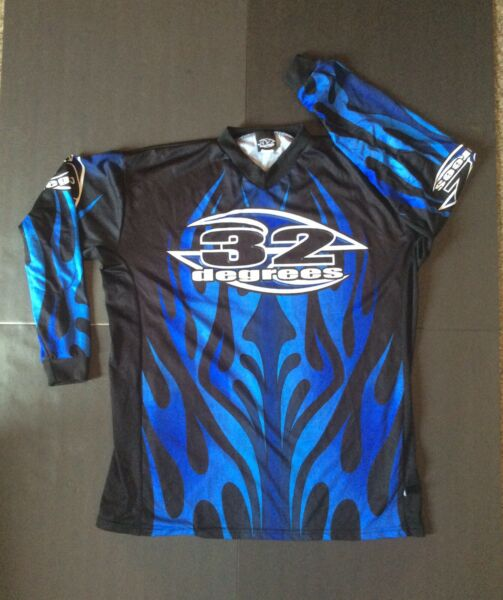 Vintage 32 Degrees Paintball Jersey Sz M EUC