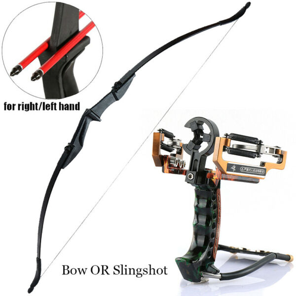 Archery Takedown Recurve Bow RH LH OR Pro Hunting Arrow Slingshot Catapult Bands