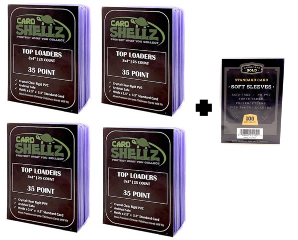 100 Regular 3x4 Toploaders 100 Soft Sleeves Compare Ultra Pro and Save