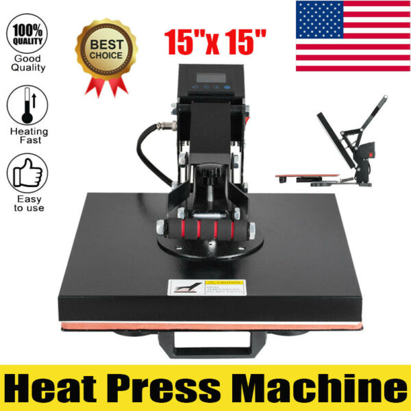 Heat Press Machine 15quot;x15quot; Digital Sublimation Transfer for T Shirt Clamshell $124.00