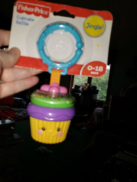 New Fisher Price infant baby cupcake rattle toy