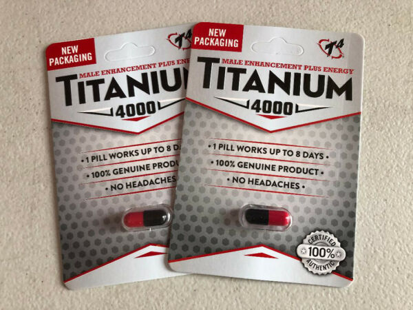 Titanium 4000 Male sexual enhancement Red and Black are Back 2 capsules $15.99