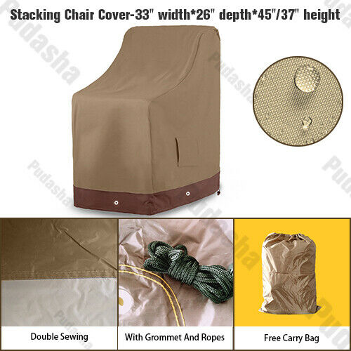 Garden Patio Waterproof Furniture Cover Stacking Chair 6 Chairs Storage GS32P $17.99