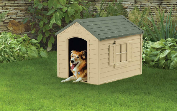 XL DOG KENNEL FOR LARGE DOGS OUTDOOR PET INSULATED CABIN HOUSE BIG SHELTER $77.98