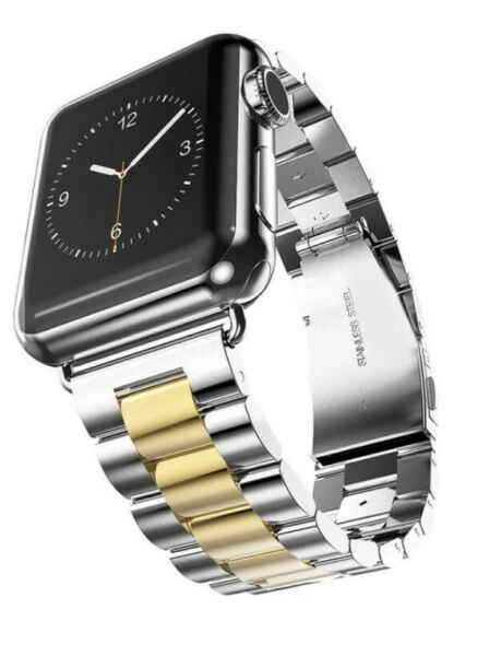 NEW BAND ONLY Apple Watch Band Stainless Steel Goldtone 38 40mm Polished