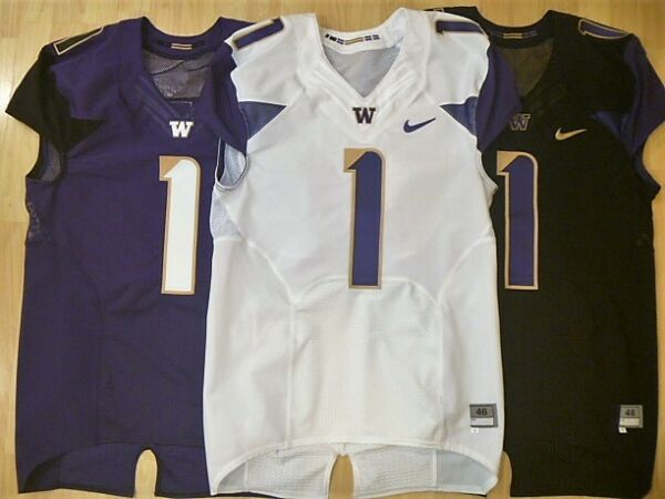 New Washington Huskies Nike Football Jersey Size 46 Sm 3 Colors Authentic Husky