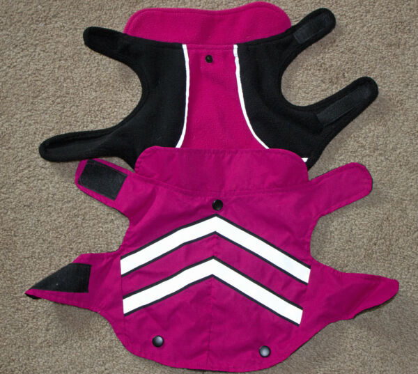 Small dog two piece reflective jacket with lining size small $4.50