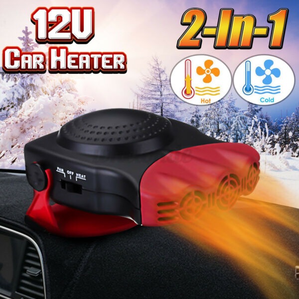 12V Car Auto Portable Electric Heater Heating Cooling Fan Defroster Demister US $16.65