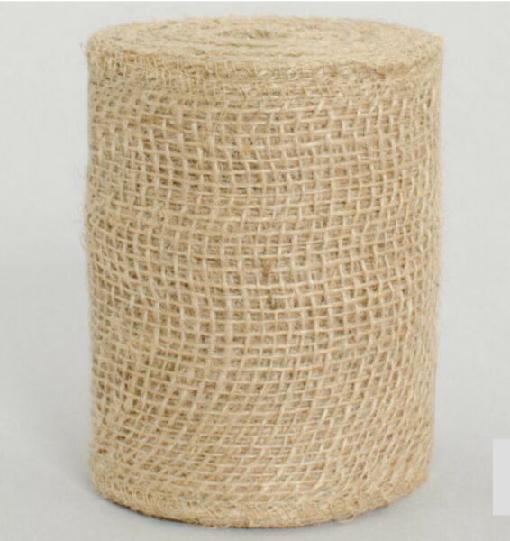 10 Yards X 4quot; Natural Burlap Finished Edges Non Wired