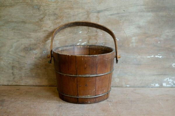 Vintage Wooden Bucket home decor fall decor