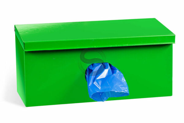 Single Roll Dog Waste Bag Dispenser 600 Biodegradable Bags Yellow Sign $57.76