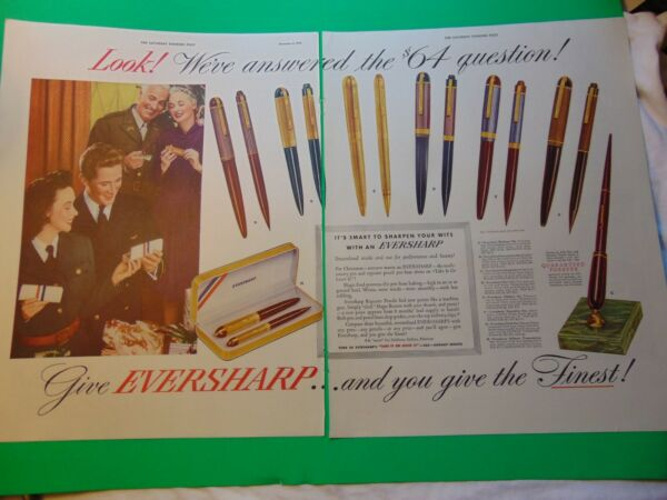 1942 EVERSHARP PENS SOLDIERS GET GIFTS print ad