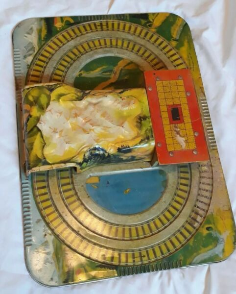 Vintage MYSTERY ALPINE EXPRESS Automatic Toy Co. 1950#x27;s train station track $49.95