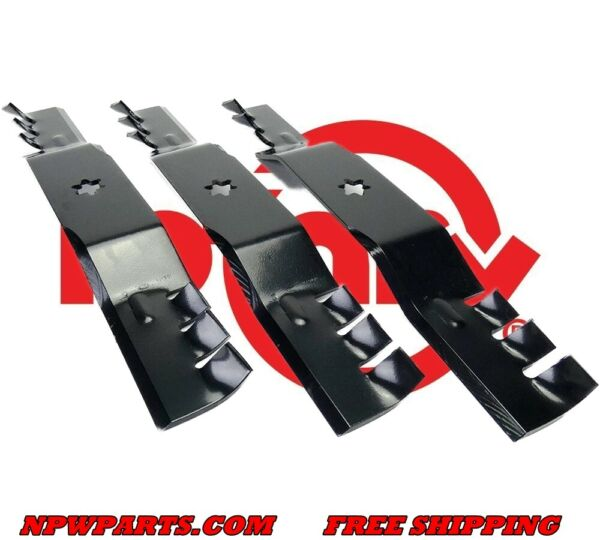 3 Rotary Toothed BLADES TO REPLACE 942 05052A EXTREME CUB CADET MTD 50#x27;#x27;
