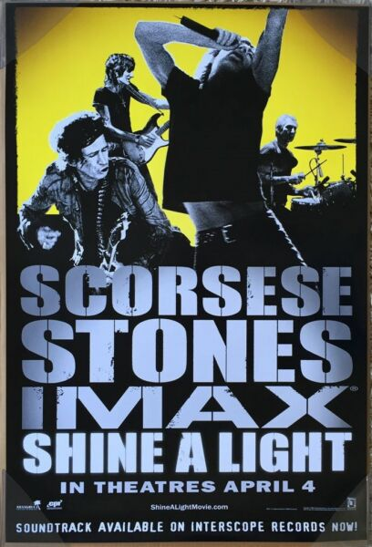 SHINE A LIGHT MOVIE POSTER 1 Sided ORIGINAL VF 27x40 ROLLING STONES MICK JAGGER