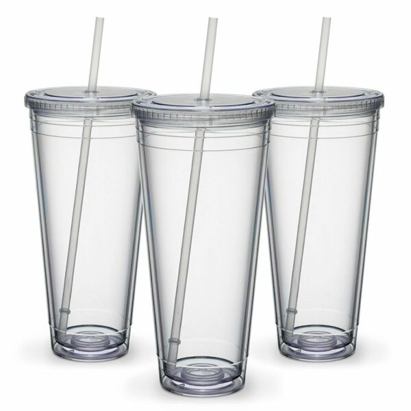 Maars Insulated Travel Tumblers 32 oz. Double Wall Acrylic 3 Pack $22.99