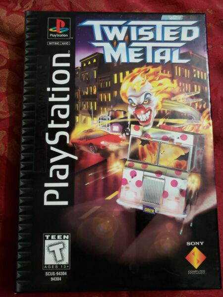 Twisted Metal Long Box Sony Playstation One PS1 PSX Game Complete