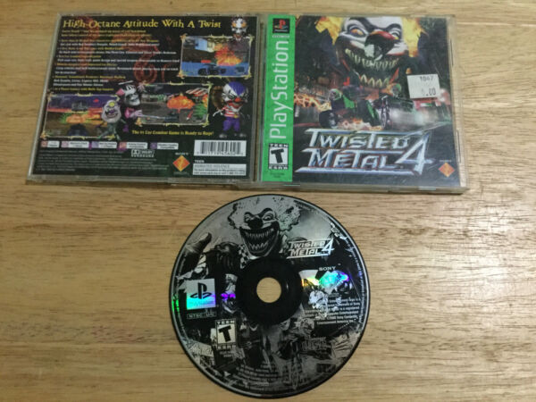 Twisted Metal 4 PlayStation 1 1999 Greatest Hits PS1 Playstation Complete