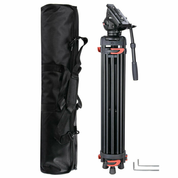 71quot; DV Video Camera Adjustable Tripod Stand Fluid Pan Head Portable Travel