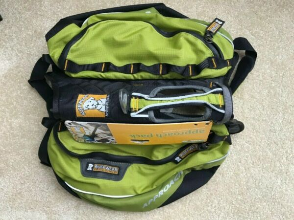 Ruffwear Approach Pack Dog Hiking Backpack K9 color Green New w Tags size M $69.99