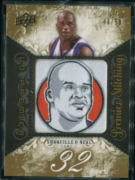 2008 09 UD Premier Stitchings Patch SHAQUILLE O#x27;NEAL LAKERS HEAT 50 PS SO $79.99