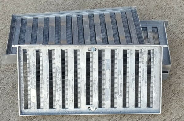 9 NEW Aluminum Adjustable Grate Style 16quot; x 8quot; Crawl Space Foundation Vents