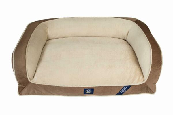 Serta Orthopedic Memory Foam Couch Pet Soft Bed Dog Durable Pillow Brown X LARGE $65.49