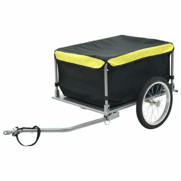 USA Bike Cargo Trailer Black and Yellow 143.3 Pound Cart Wheel Carrier $169.36