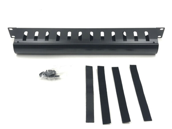 Raising Electronics 1U Horizontal Rack Mount Metal Cable Management with Cover $15.99