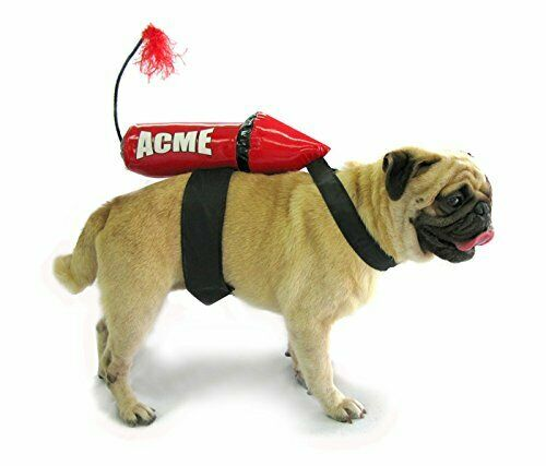 Acme Rocket Costume for Dogs Small 7quot; long 11quot; 13quot;girth $29.90