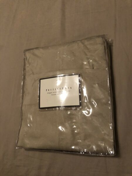 Pottery Barn Megan Brushed Canvas Slipcover Raffia Chair Cover $15.00