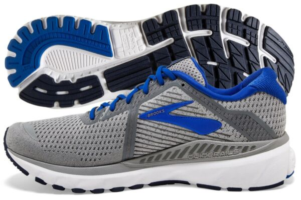 Brooks Adrenaline GTS 20 Men#x27;s Grey Blue Navy multiple sizes New In Box