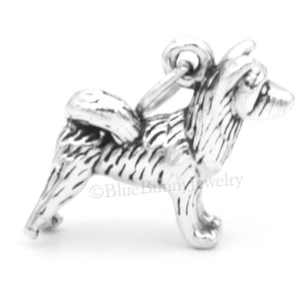 3D AKITA Dog Charm Pendant solid 925 STERLING SILVER $13.99