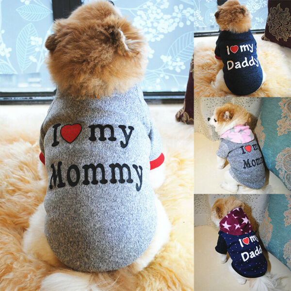 Soft Fleece Dog Jumpsuit Winter Dog Clothes Small Puppy Coat Pet Apparel Hoodie $7.58