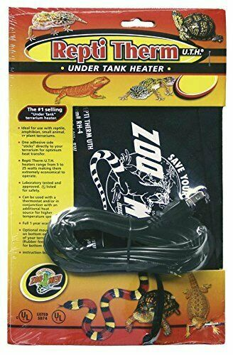 Zoo Med ReptiTherm Under Tank Heater 50 60gal 18quot;l x 8quot;w $29.99