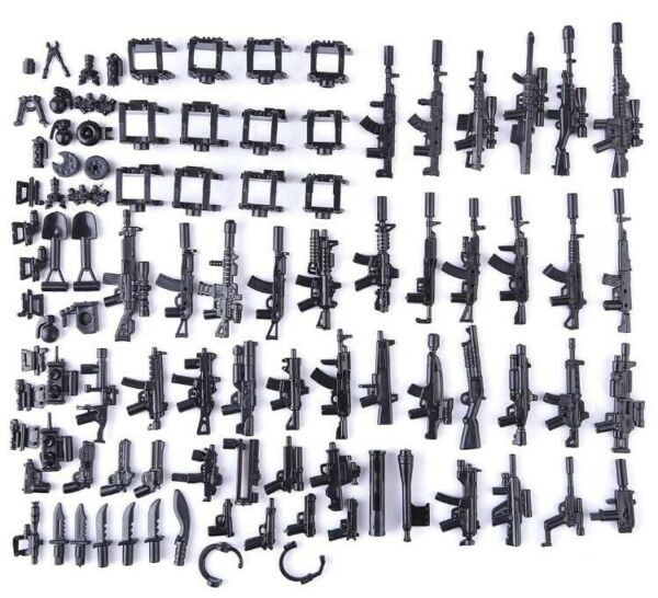 Custom Swat Guns Weapons Pack For Minifigures Military Police For Lego Minifigs $18.99