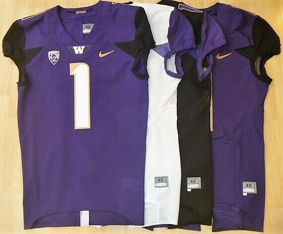 New Washington Huskies Nike Football Jersey Size 40 Lg 3 Colors Authentic Husky