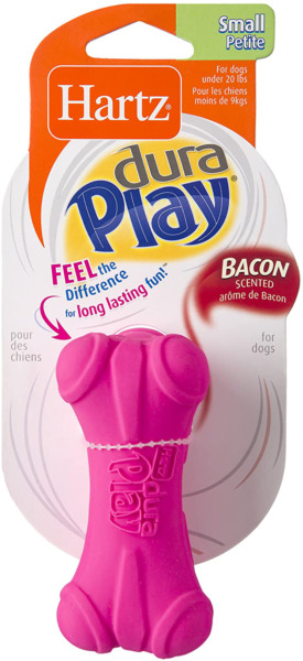 Hartz Dura Play Bacon Scented Dog Toy Small Bone Colors Vary $9.90