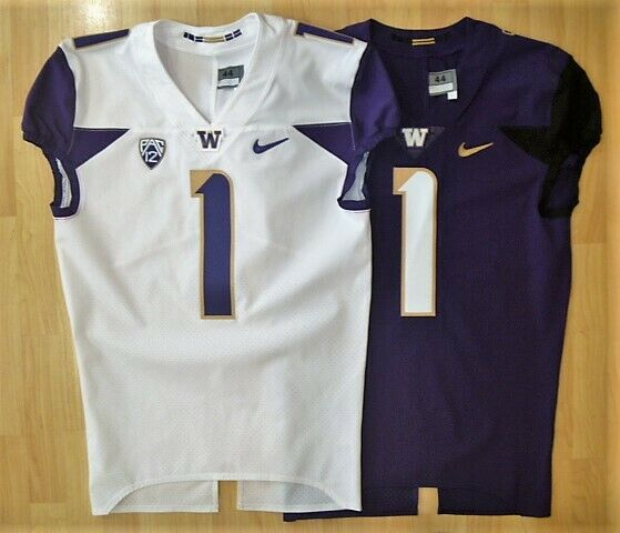 New Washington Huskies Nike Football Jersey Size 44 Lg 2 Colors Authentic Husky