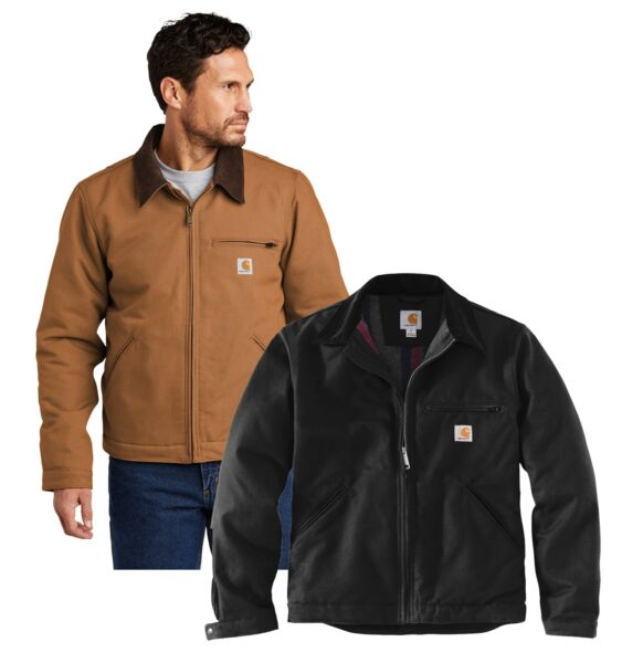 New Mens Carhartt Duck Detroit Jacket Work Coat CT103828 Pick Size and Color