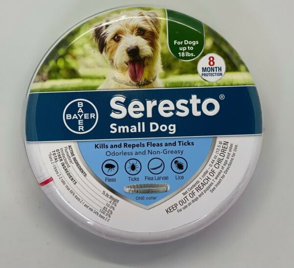 Seresto Small Dog 8 Month Protection against Fleas amp; Ticks 1 Collar Authentic $38.50