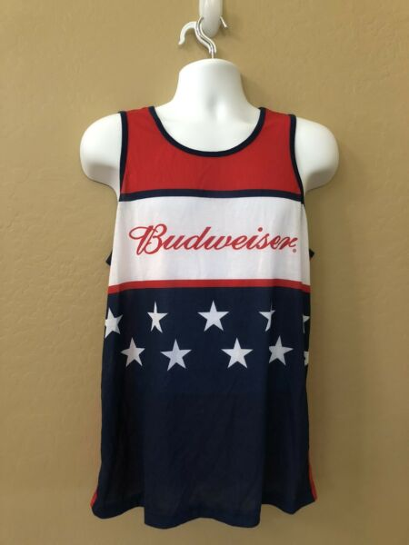 mens budweiser shirt Tank Top M 38 40