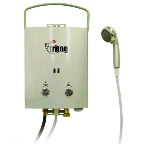 Portable Water Heater Triton 5 l Adjustable Heat Water Flow Family Camping Trip $144.88