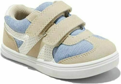 CAT amp; JACK Sawyer Sneakers Beige amp; Blue Casual Shoes Toddler Size 9 NEW $14.00
