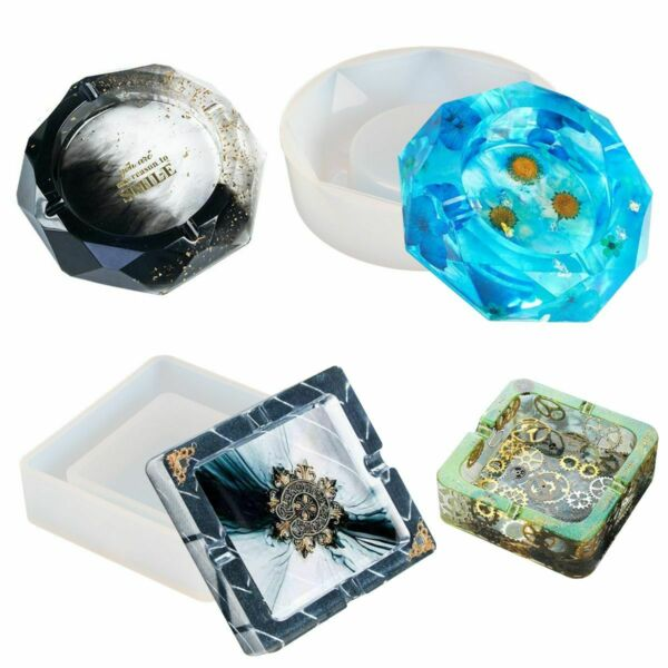 Silicone Ashtray Mold Resin Jewelery Making Mould Casting Epoxy DIY Craft Tool $7.49