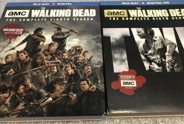 Walking Dead Season 6 and 8 Slipcovers For Blu ray ***SLIPCOVERS ONLY*** $17.00