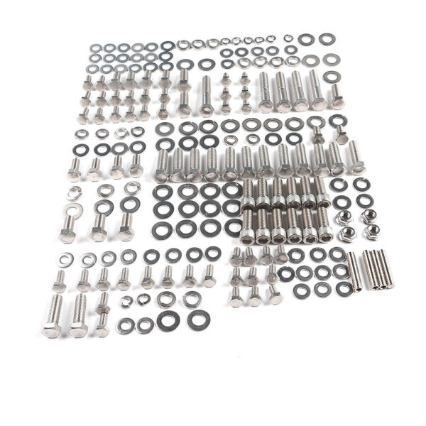 Engine Bolts Kit Stainless Small Block 265 283 305 327 350 Hex fit for SBC Chevy