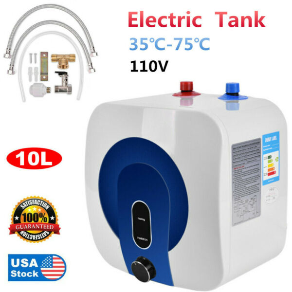 35℃ 75℃ Home 10L Electric Tankless Hot Water Heater 110V Kitchen Bathroom NEW $85.99