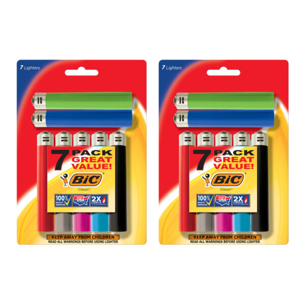 BIC Classic Lighter Assorted Colors 14 Pack $15.24