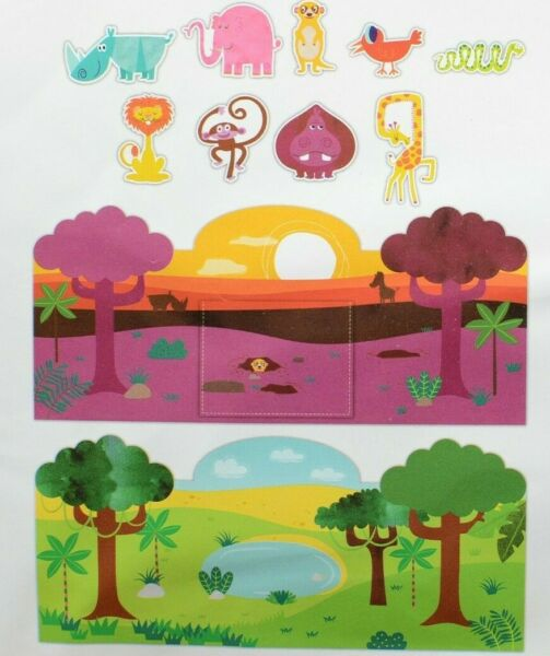 Jungle with Animals 10 Piece Felt Play Scene $6.99